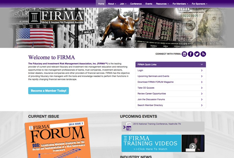 Screenshot of Firma Homepage Web Design by Inforest Communications