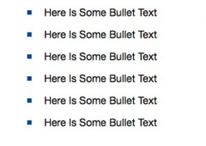 Example of Bulleted List with Different Colored Bullets