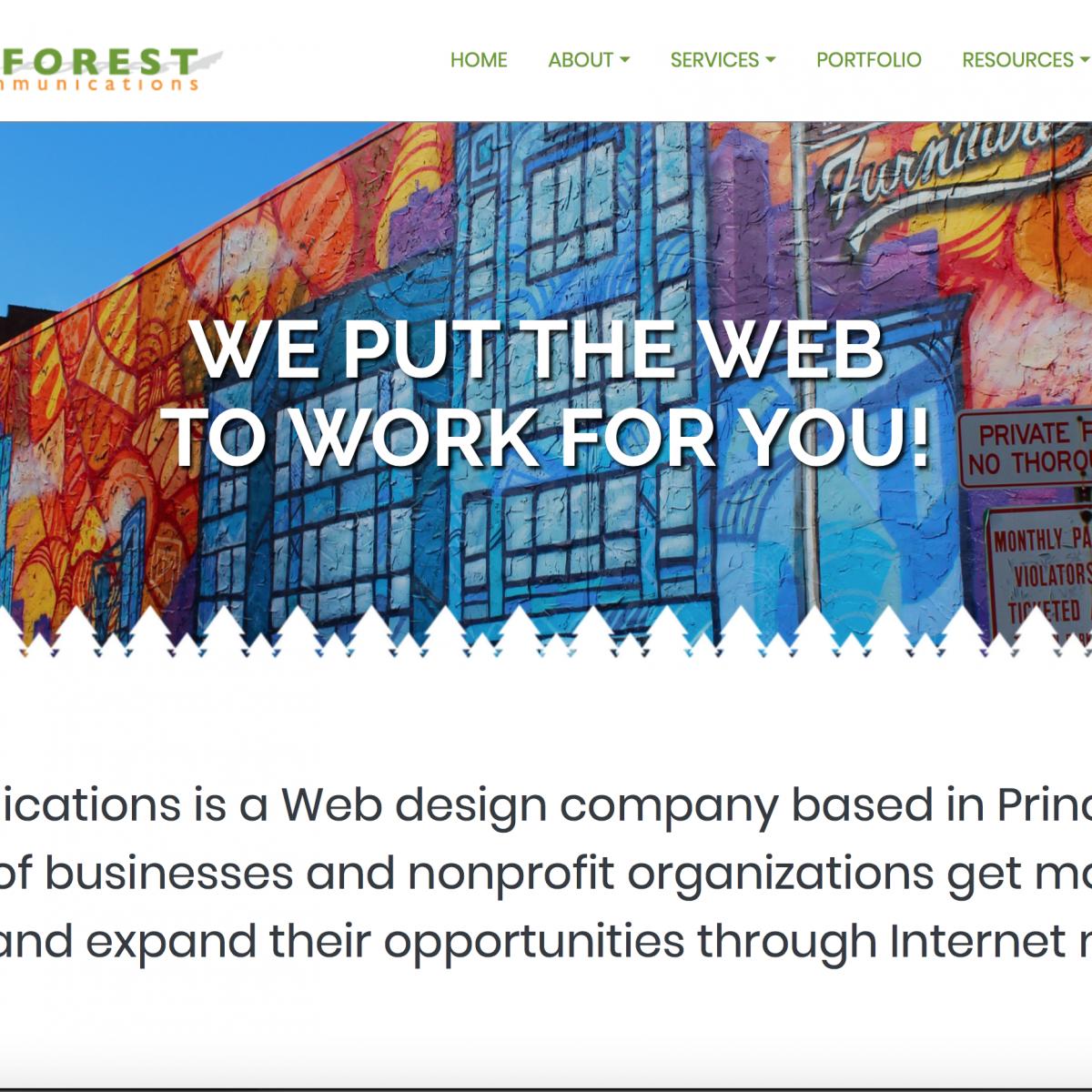 Inforest Communications Website