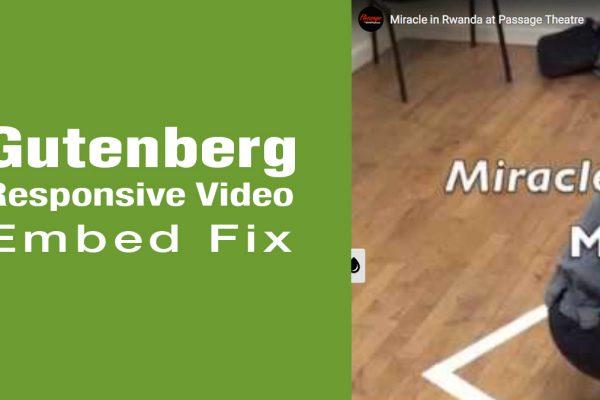 Gutenberg Responsive Video Embed Fix