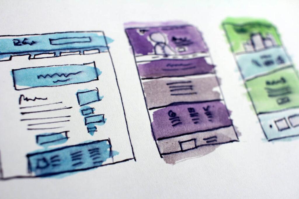 drawings of website schematics